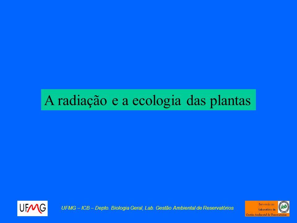 A radiação e a ecologia das plantas