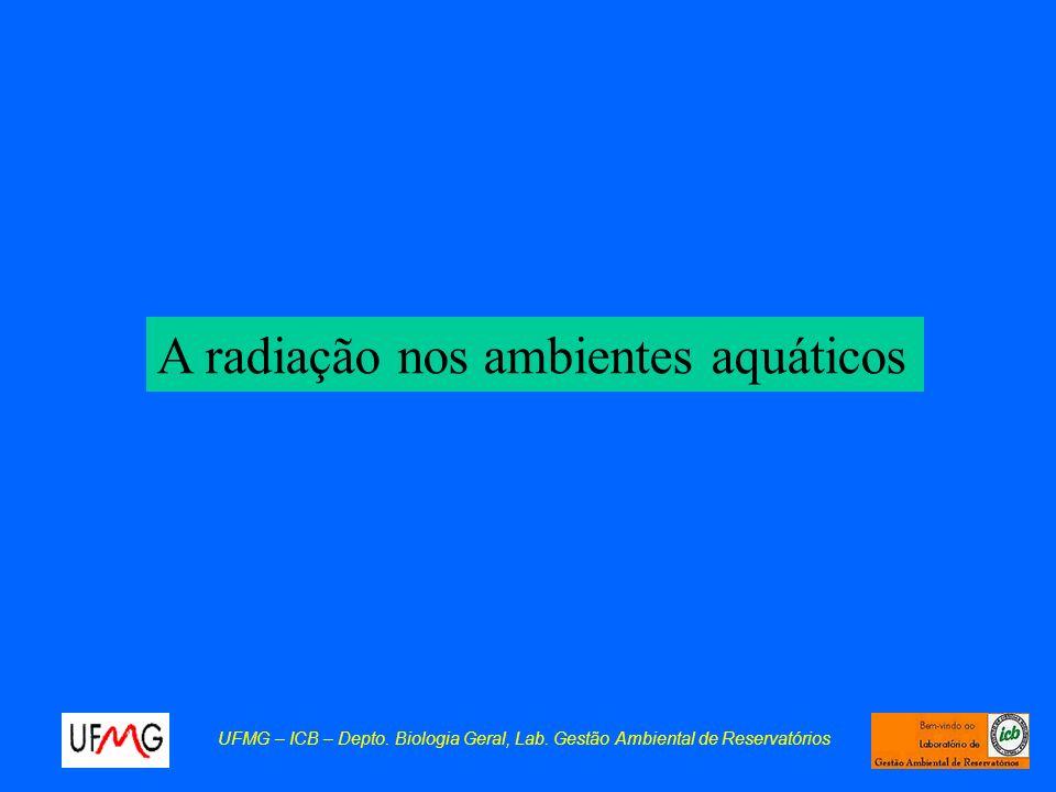 A radiação nos ambientes aquáticos