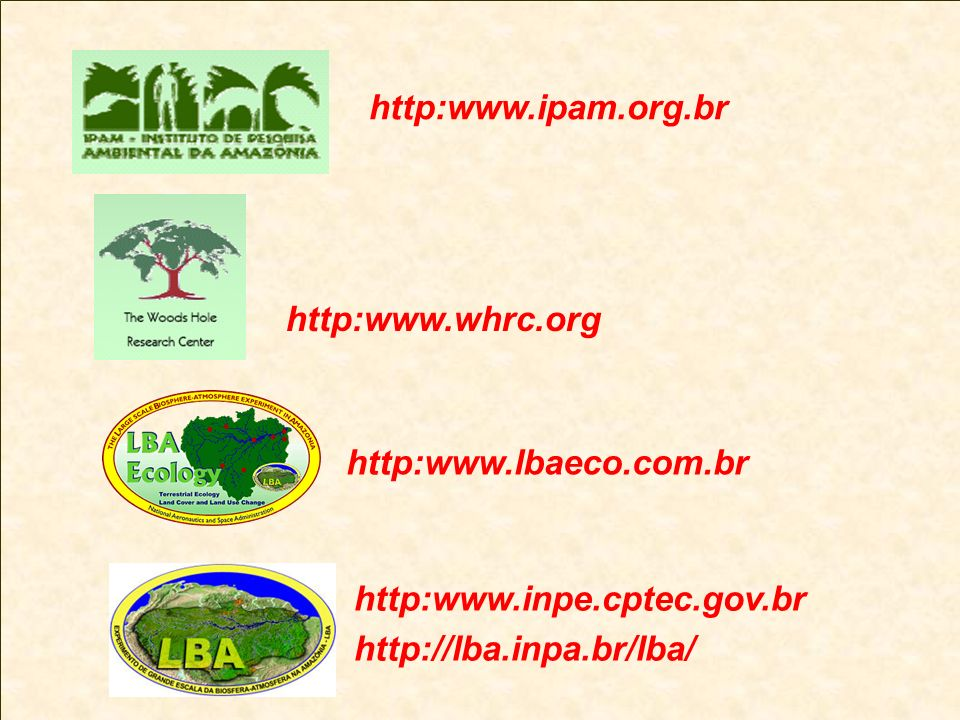 http:www.ipam.org.br http:www.whrc.org. http:www.lbaeco.com.br.