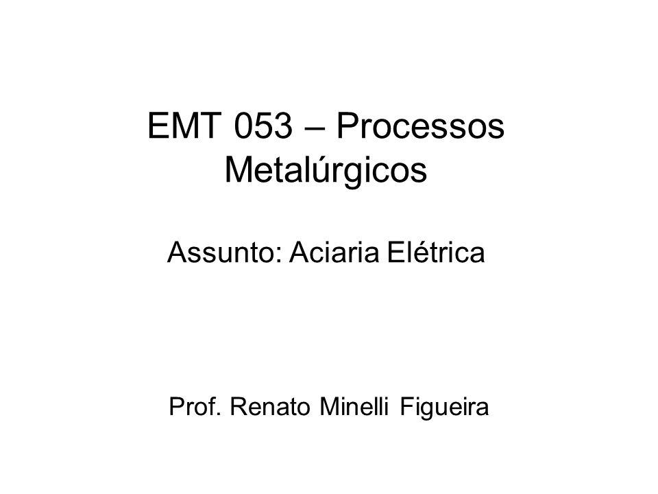 EMT 053 – Processos Metalúrgicos Assunto: Aciaria Elétrica