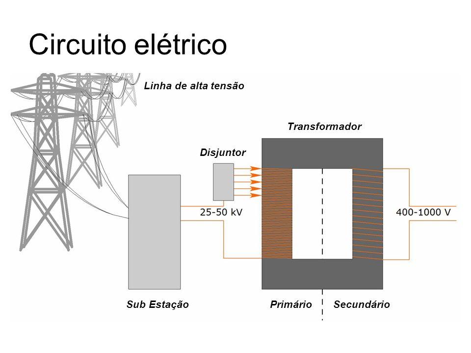 Circuito elétrico Linha de alta tensão Transformador Disjuntor