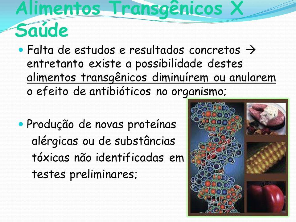 Alimentos Transgênicos X Saúde