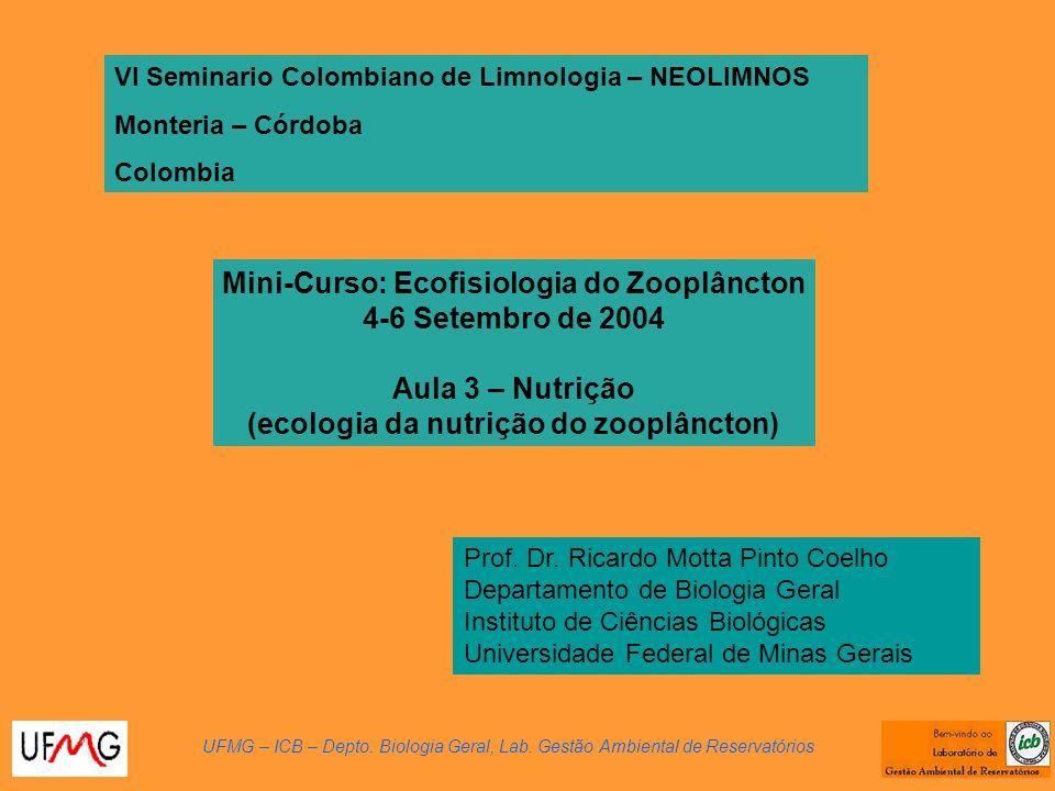 Mini-Curso: Ecofisiologia do Zooplâncton 4-6 Setembro de 2004