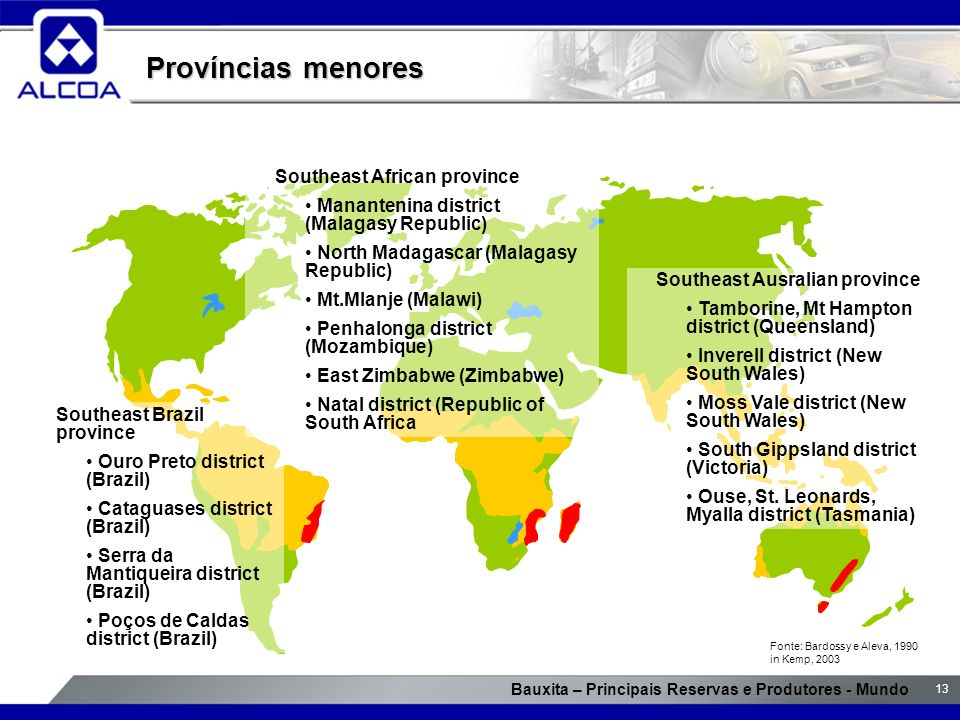 Províncias menores Southeast African province