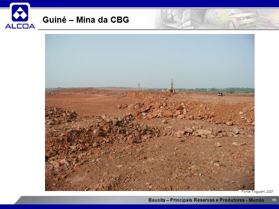 Guiné – Mina da CBG Fonte: Toguyeni, 2007