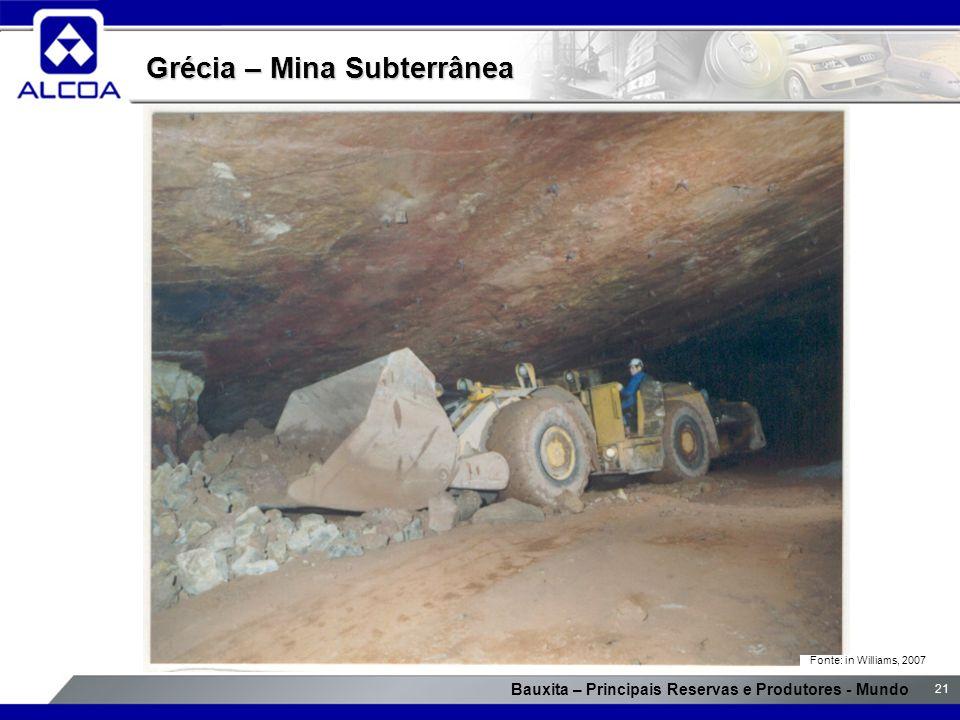 Grécia – Mina Subterrânea