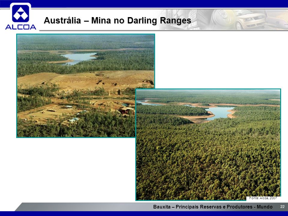 Austrália – Mina no Darling Ranges