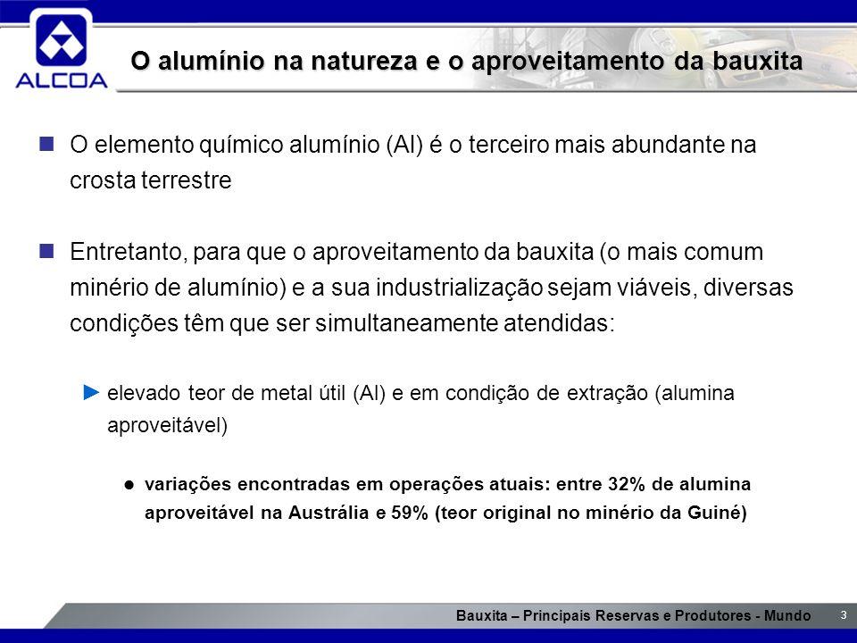 O alumínio na natureza e o aproveitamento da bauxita
