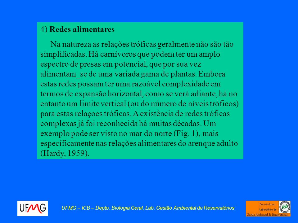 4) Redes alimentares