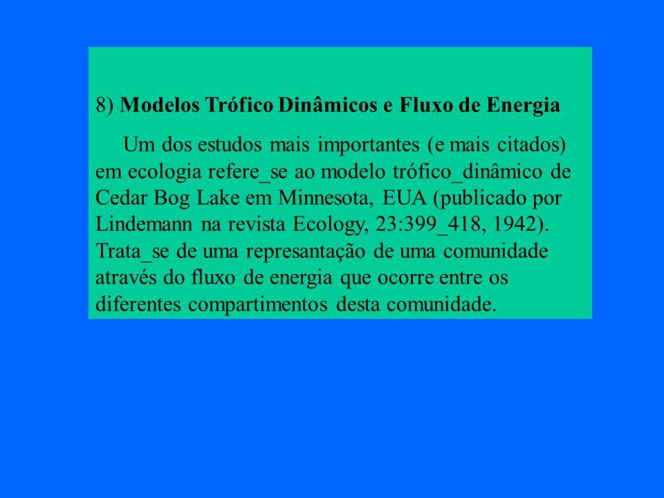 8) Modelos Trófico Dinâmicos e Fluxo de Energia