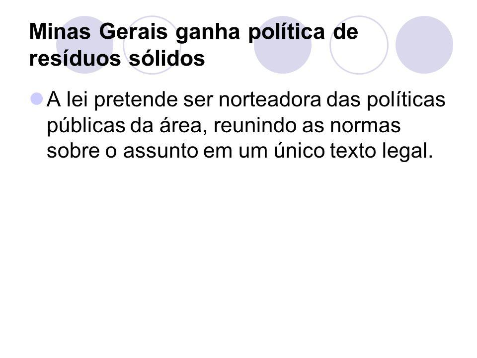 Minas Gerais ganha política de resíduos sólidos