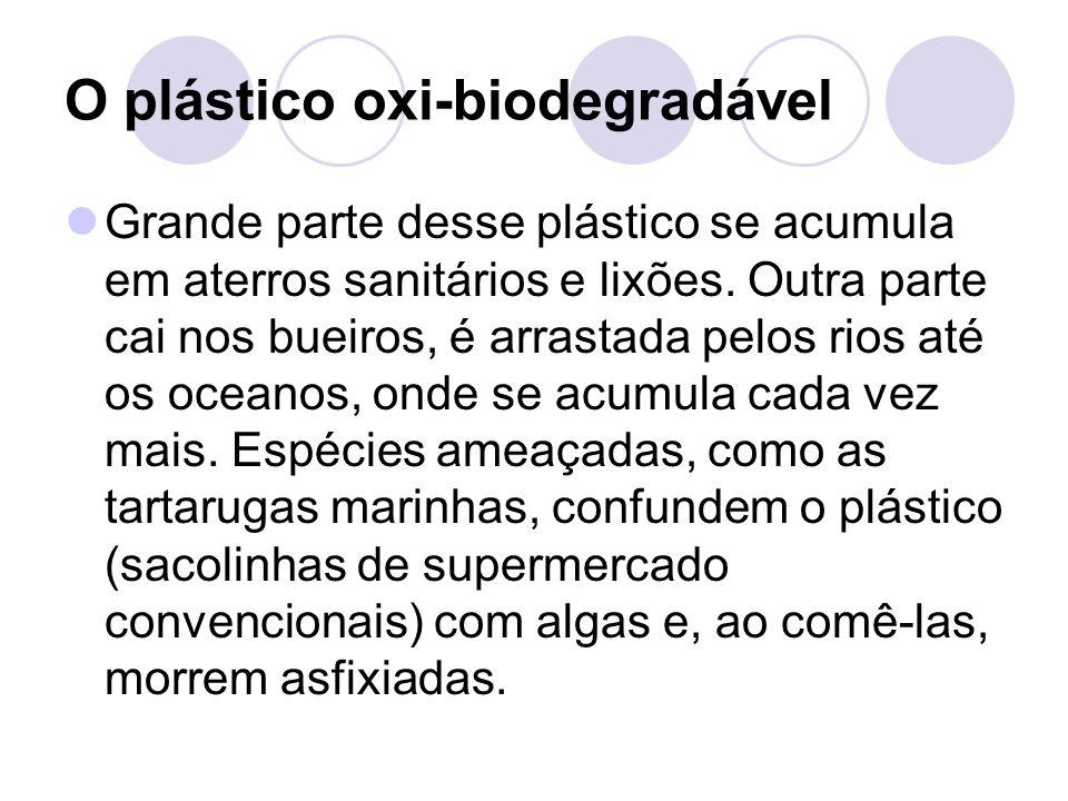 O plástico oxi-biodegradável
