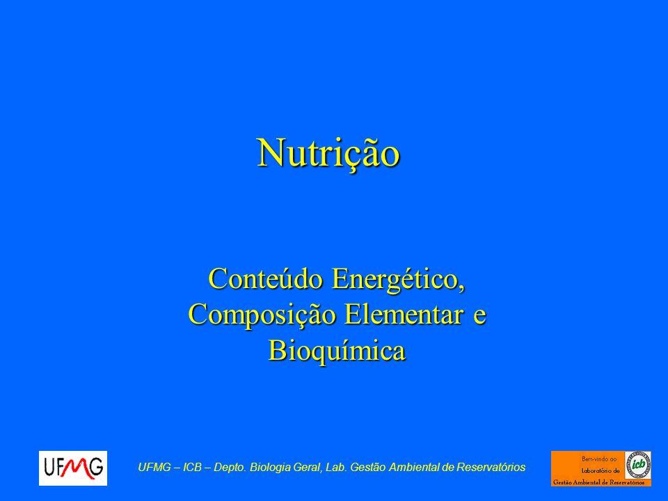 Conteúdo Energético, Composição Elementar e Bioquímica