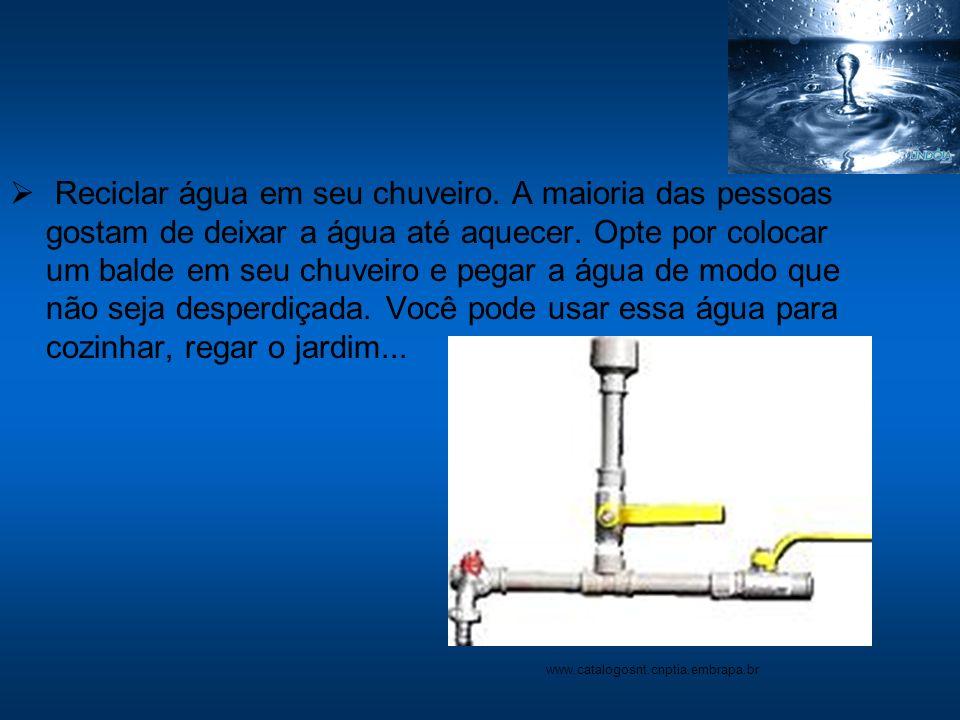 Reciclar água em seu chuveiro