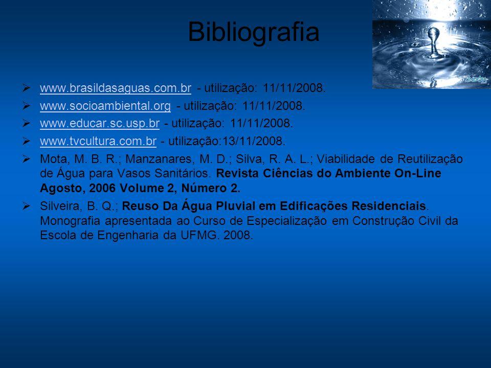 Bibliografia www.brasildasaguas.com.br - utilização: 11/11/2008.