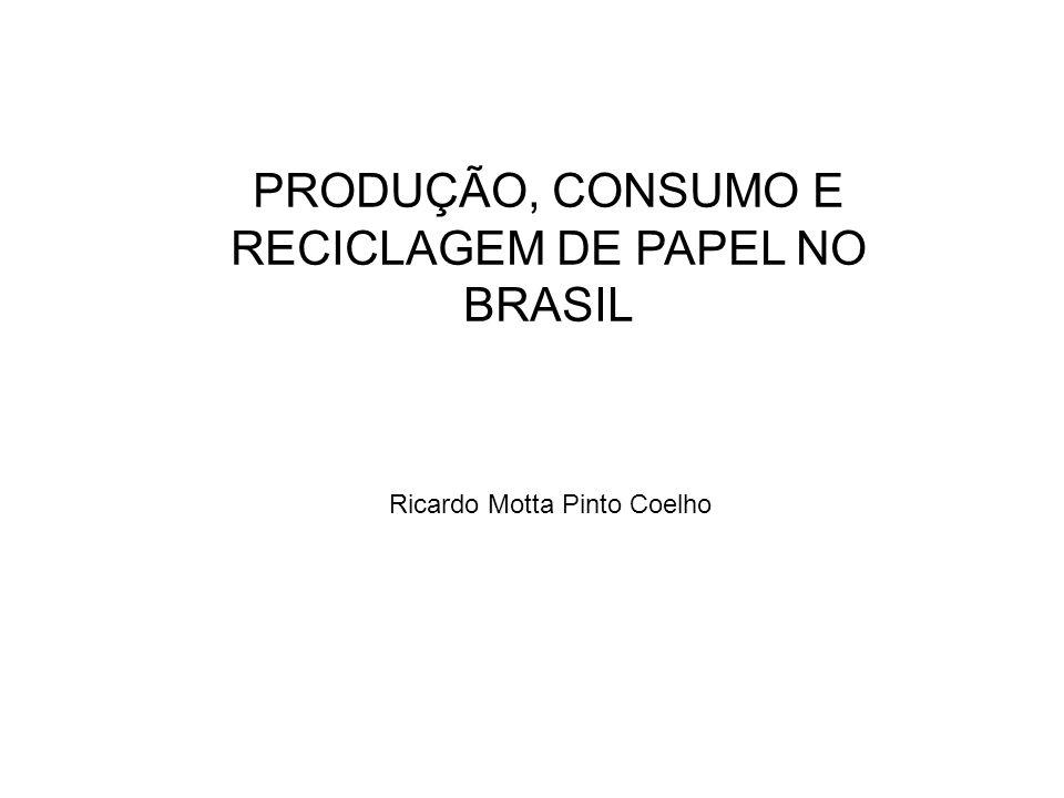PRODUÇÃO, CONSUMO E RECICLAGEM DE PAPEL NO BRASIL