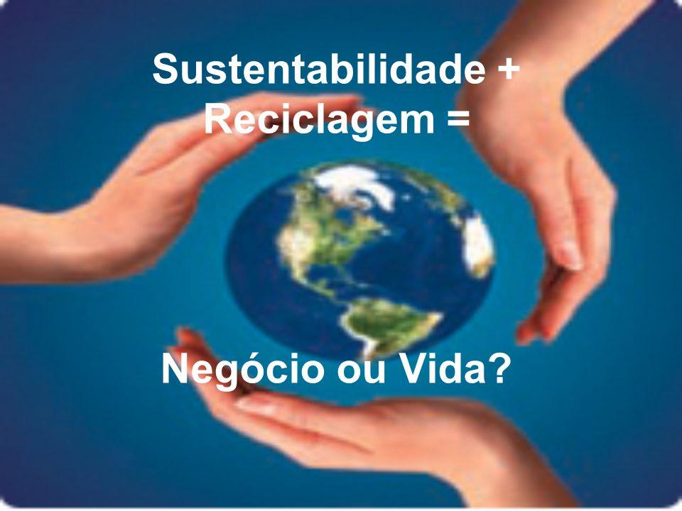 Sustentabilidade + Reciclagem = Negócio ou Vida