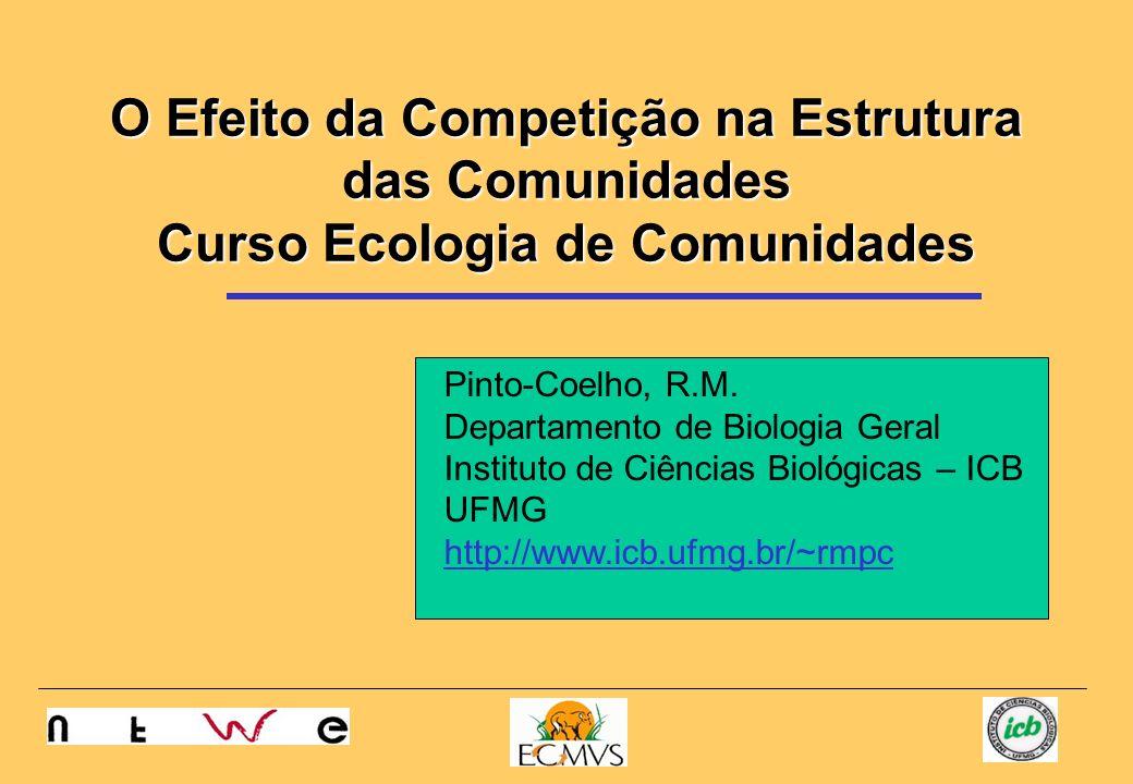 O Efeito da Competição na Estrutura das Comunidades Curso Ecologia de Comunidades