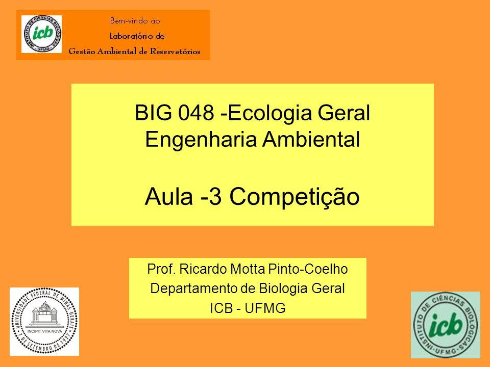 BIG 048 -Ecologia Geral Engenharia Ambiental Aula -3 Competição