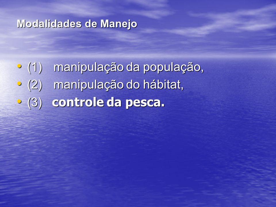 (1) manipulação da população, (2) manipulação do hábitat,