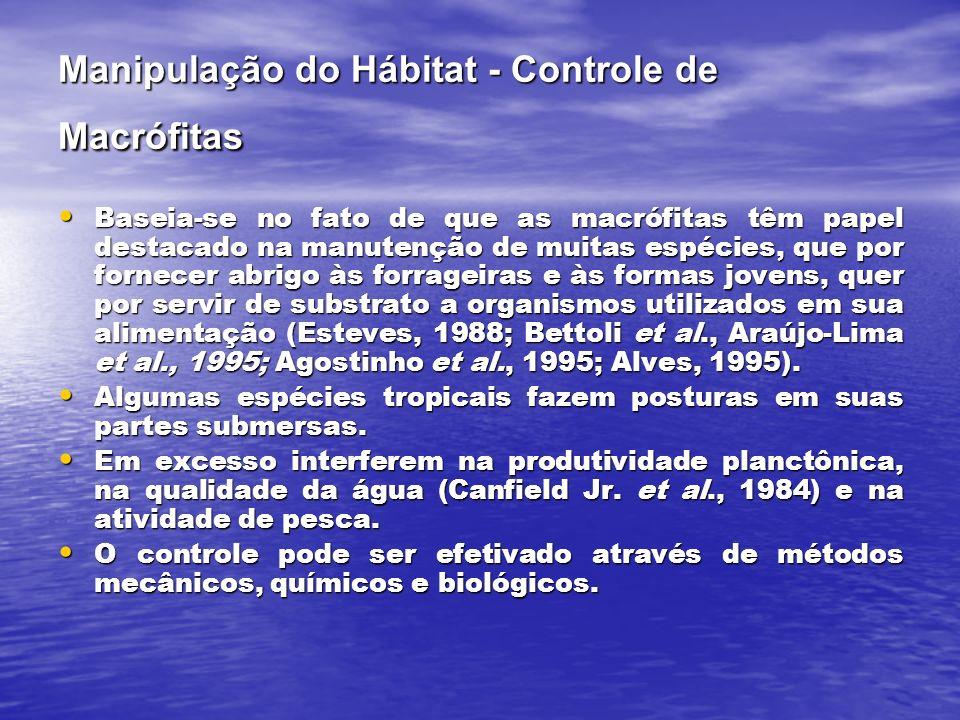 Manipulação do Hábitat - Controle de Macrófitas