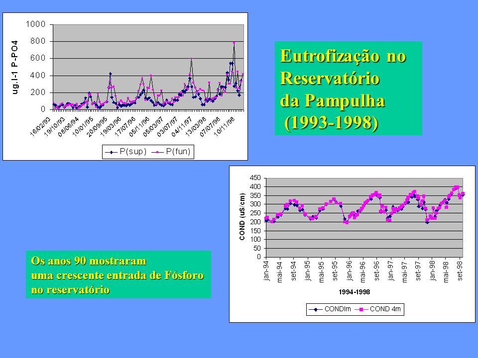 Eutrofização no Reservatório da Pampulha (1993-1998)