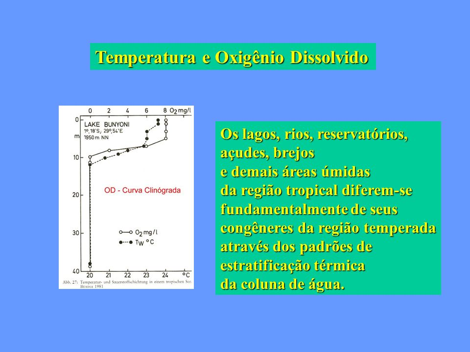 Temperatura e Oxigênio Dissolvido