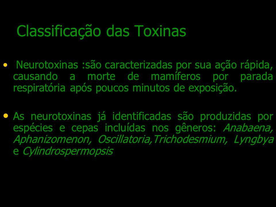 Classificação das Toxinas