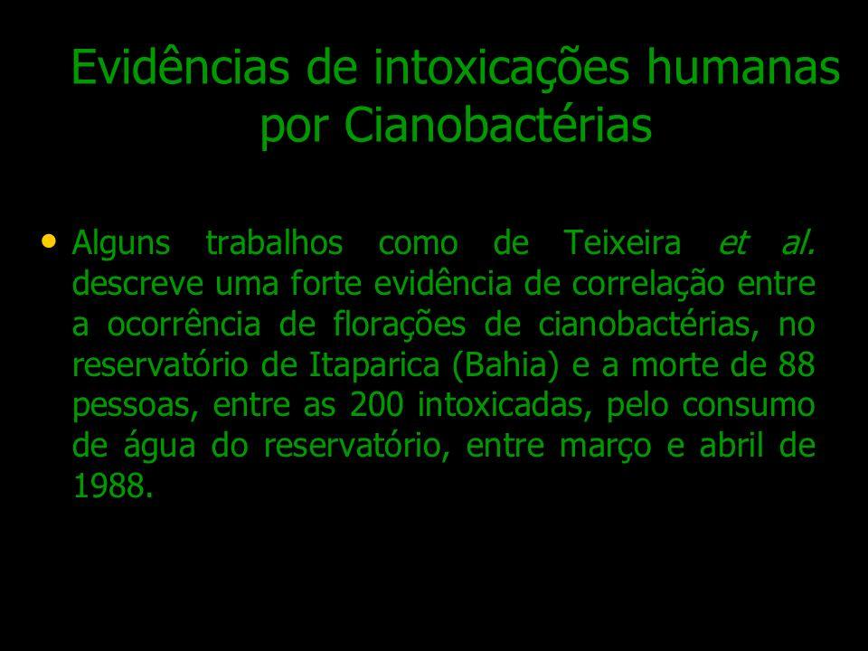 Evidências de intoxicações humanas por Cianobactérias