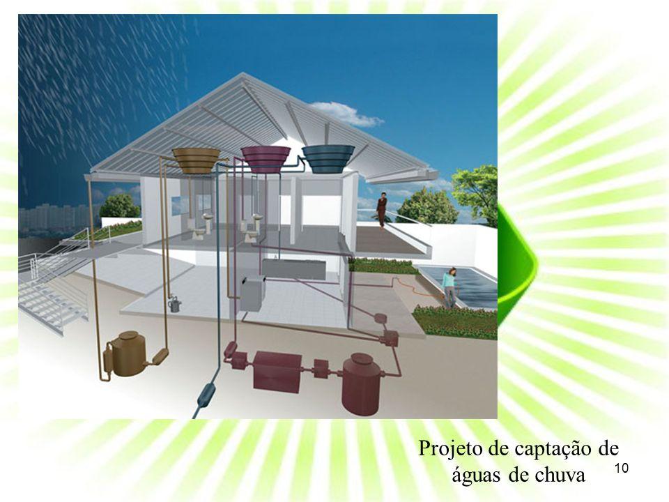 Projeto de captação de águas de chuva