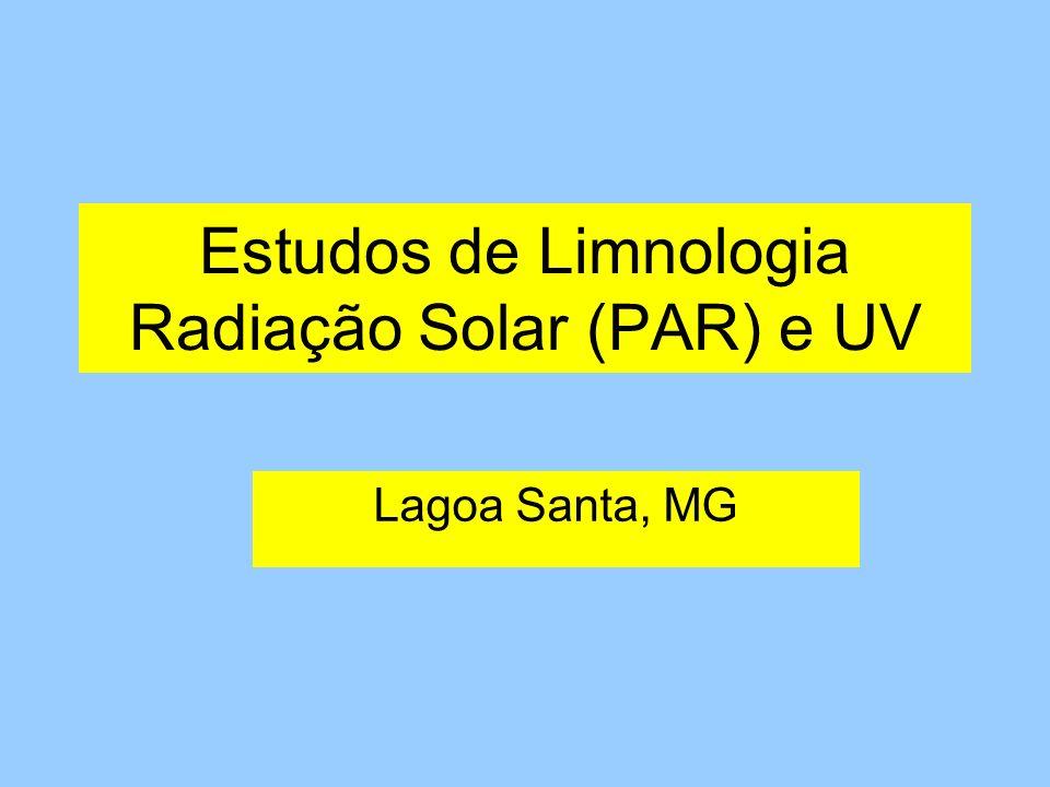 Estudos de Limnologia Radiação Solar (PAR) e UV