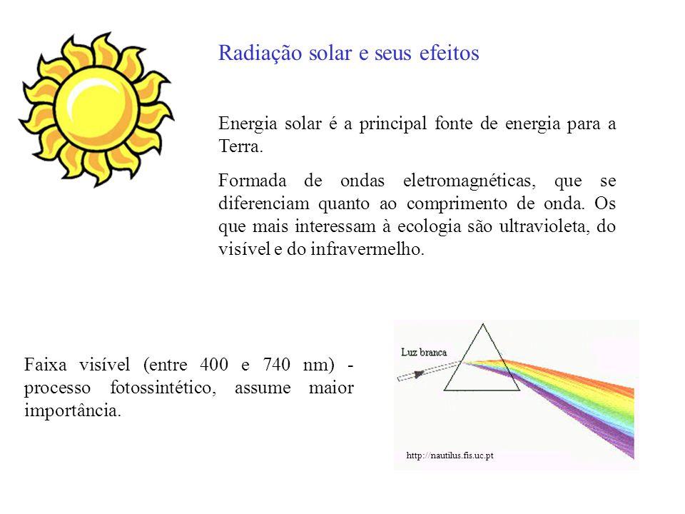 Radiação solar e seus efeitos