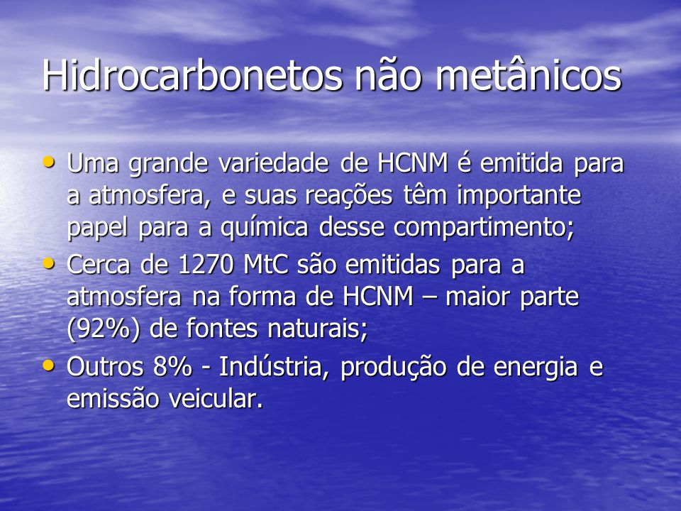 Hidrocarbonetos não metânicos