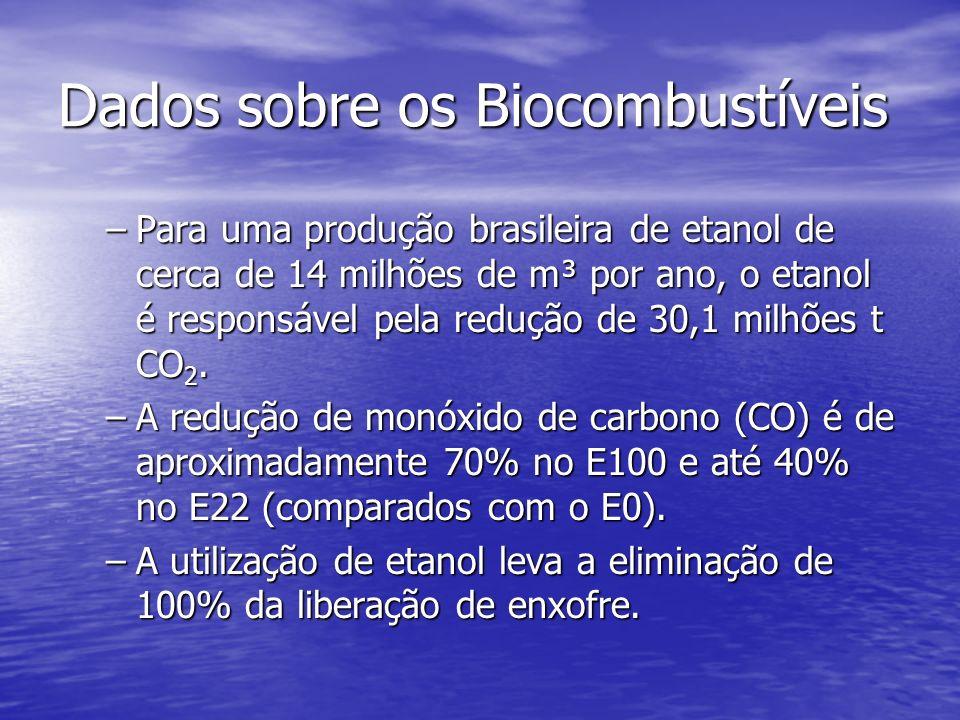 Dados sobre os Biocombustíveis