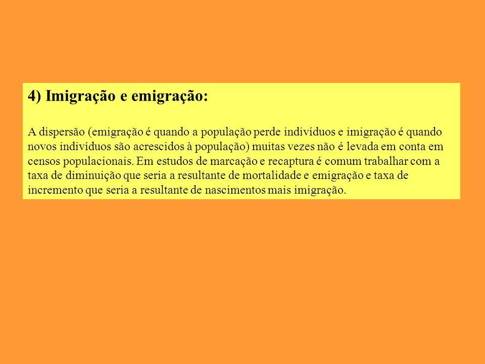 4) Imigração e emigração: