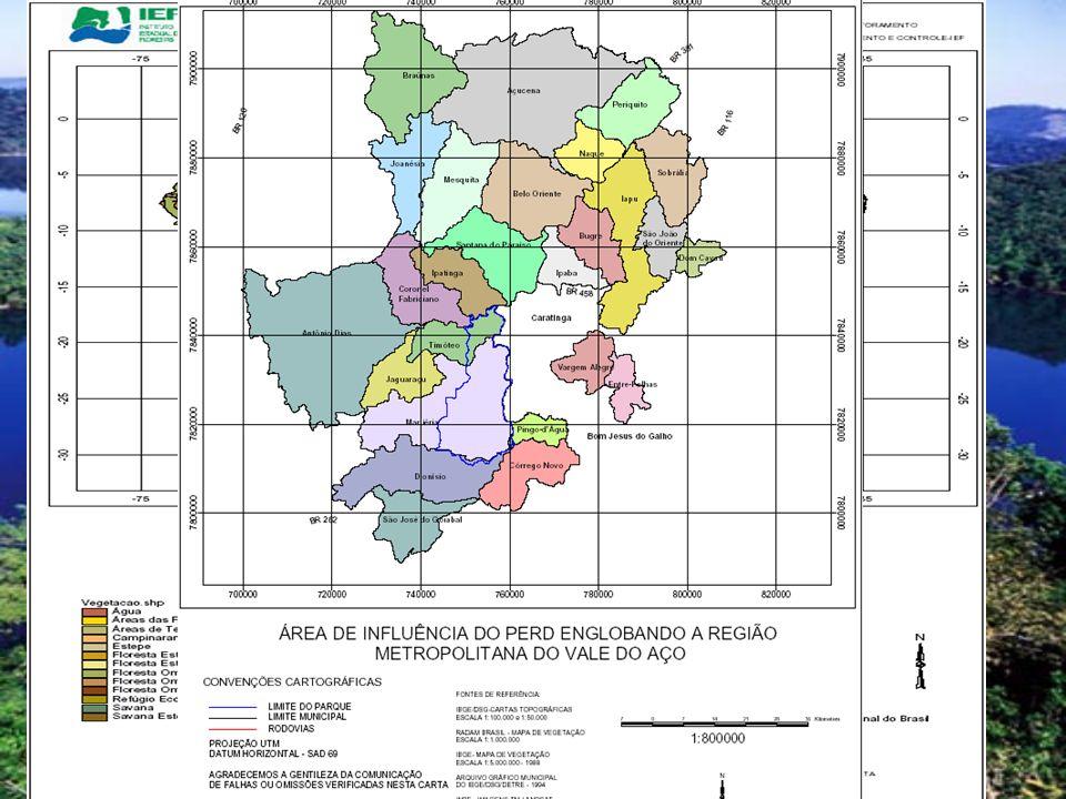 O Parque Estadual do Rio Doce possui uma área de 35976
