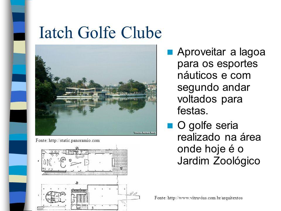 Iatch Golfe Clube Aproveitar a lagoa para os esportes náuticos e com segundo andar voltados para festas.