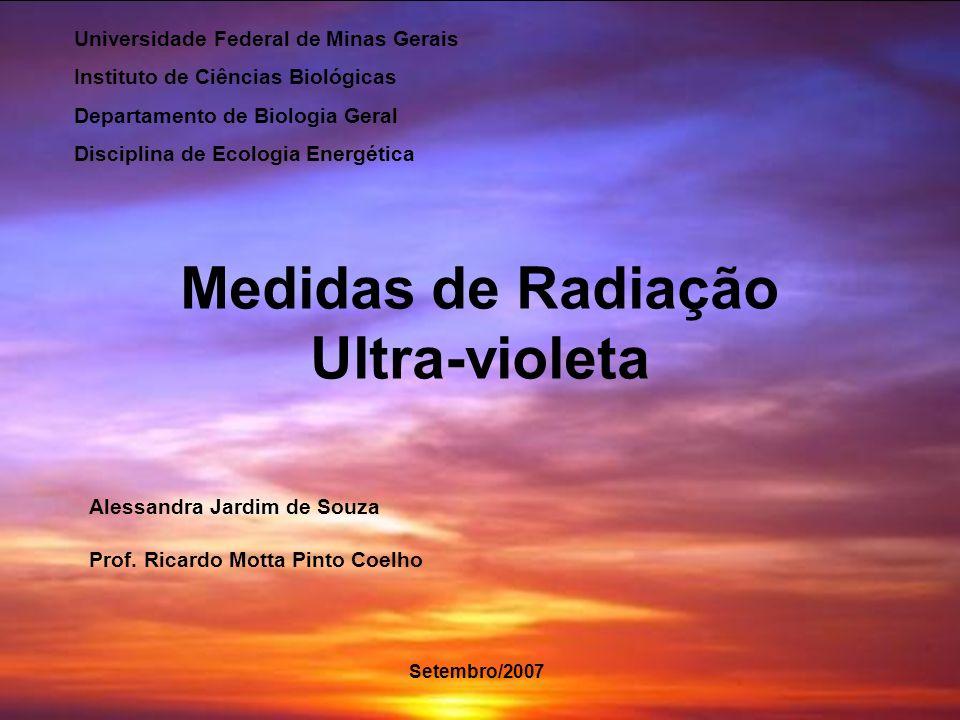 Medidas de Radiação Ultra-violeta