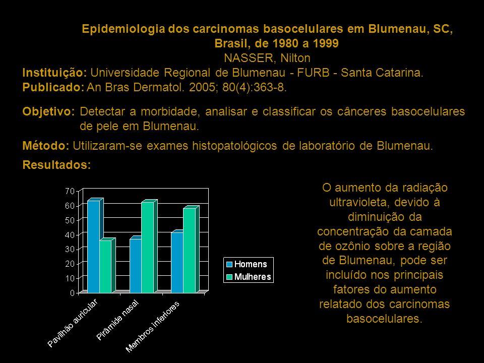 Epidemiologia dos carcinomas basocelulares em Blumenau, SC, Brasil, de 1980 a 1999