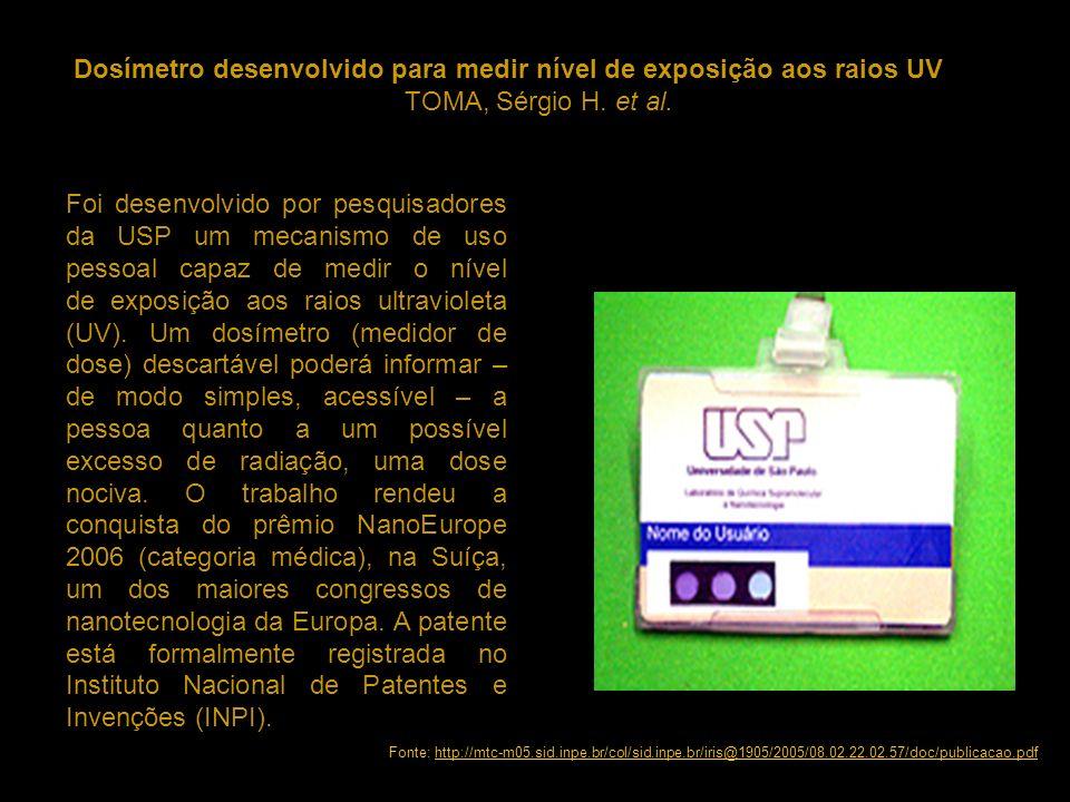 Dosímetro desenvolvido para medir nível de exposição aos raios UV