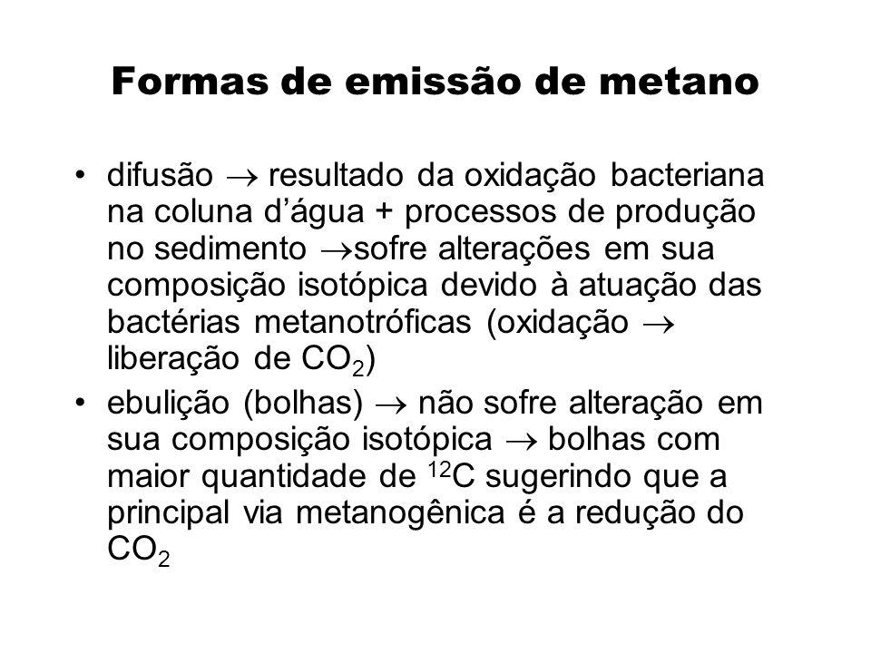 Formas de emissão de metano