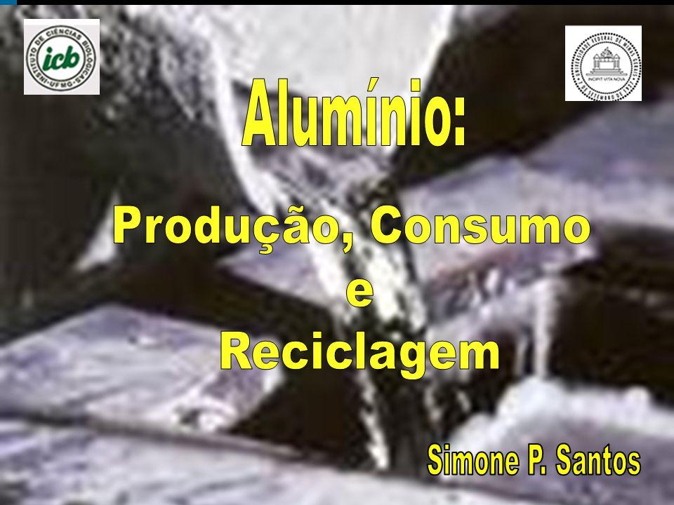 Alumínio: Produção, Consumo e Reciclagem Simone P. Santos