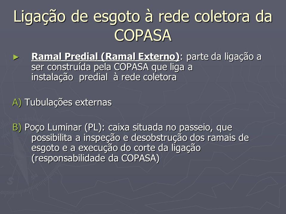 Ligação de esgoto à rede coletora da COPASA