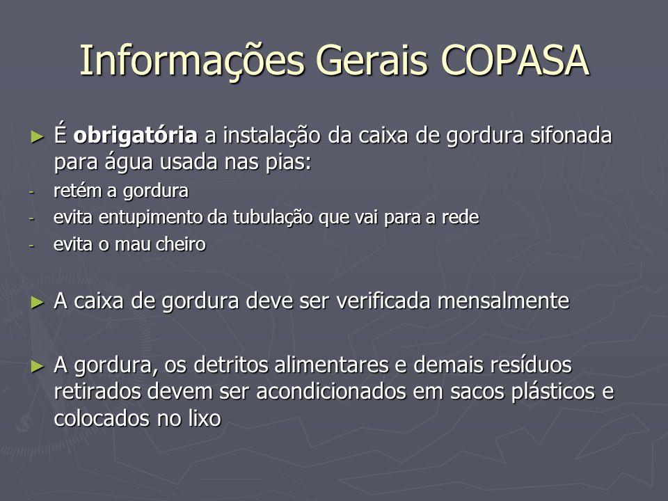 Informações Gerais COPASA
