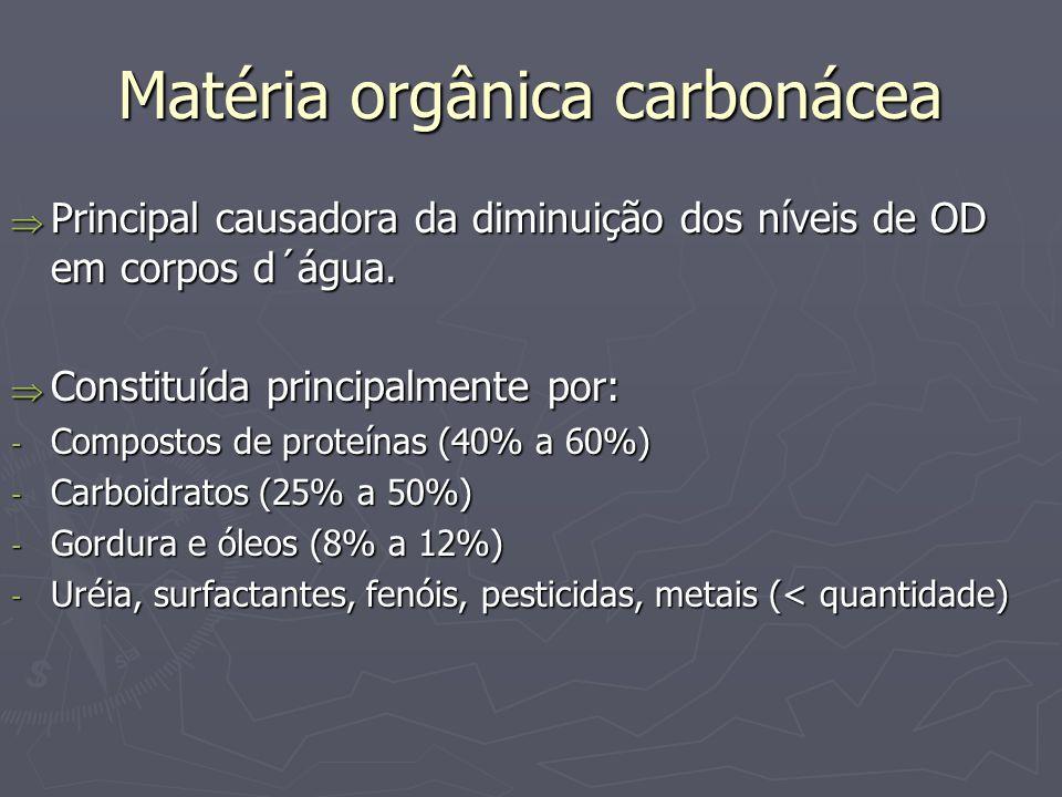 Matéria orgânica carbonácea
