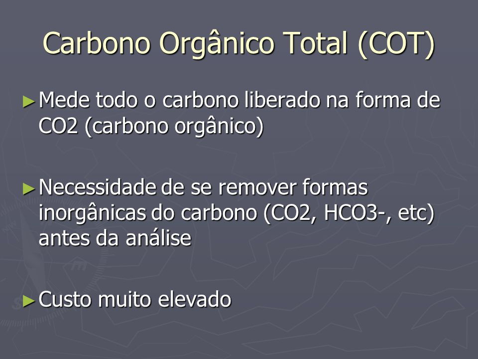 Carbono Orgânico Total (COT)