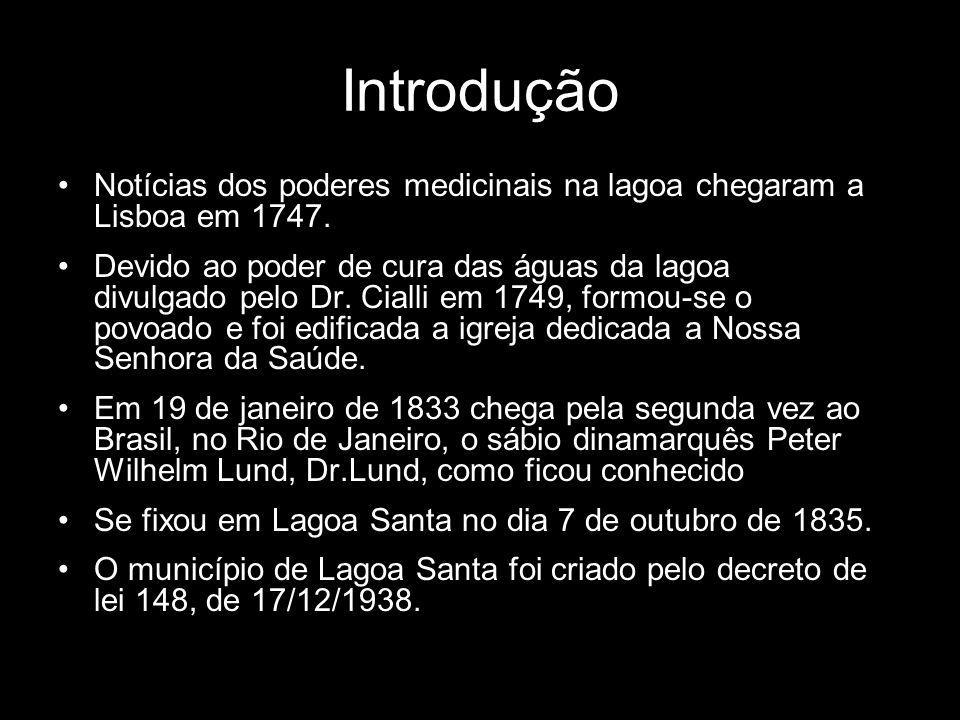 Introdução Notícias dos poderes medicinais na lagoa chegaram a Lisboa em 1747.
