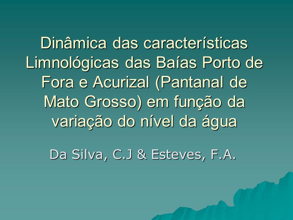 Dinâmica das características Limnológicas das Baías Porto de Fora e Acurizal (Pantanal de Mato Grosso) em função da variação do nível da água