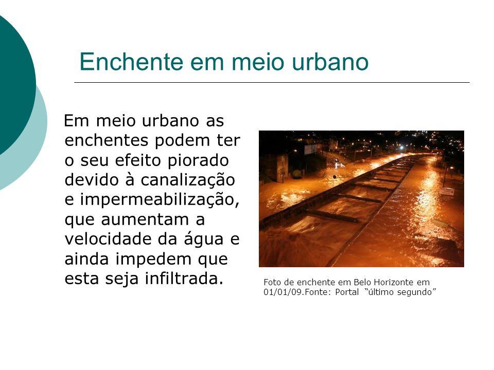 Enchente em meio urbano