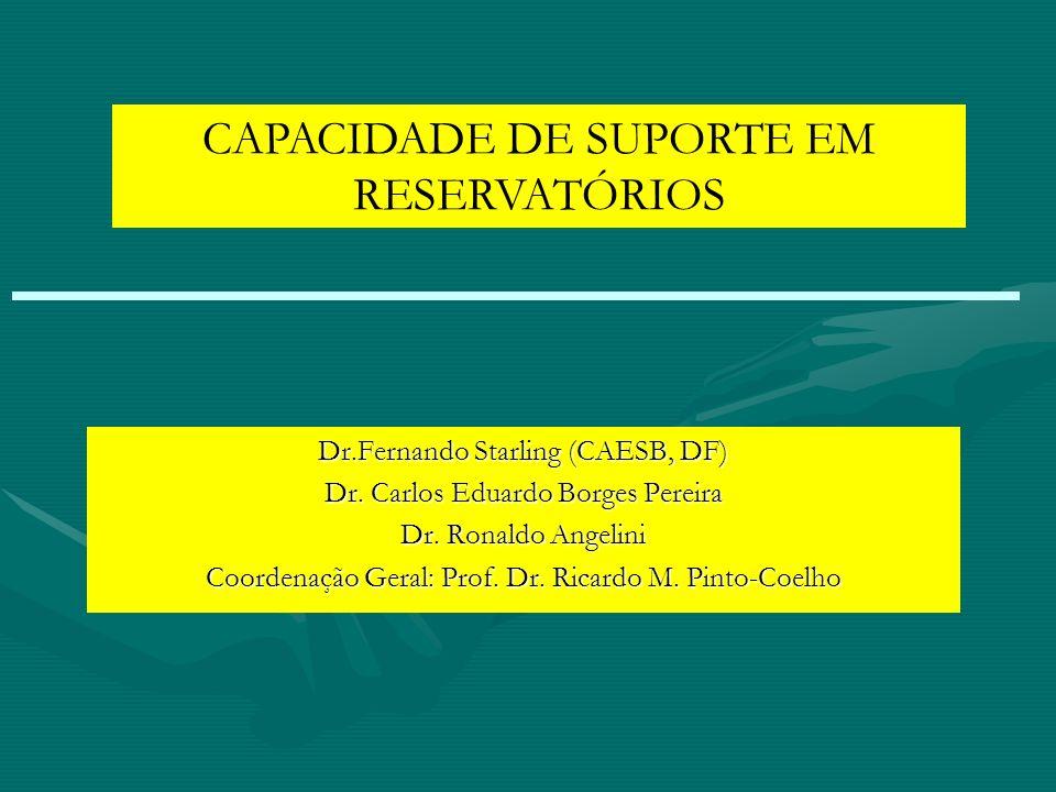 CAPACIDADE DE SUPORTE EM RESERVATÓRIOS